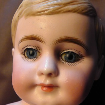 ANTIQUE BISQUE BOY DOLL