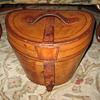 Antique Collins & Fairbanks Leather Top Hat Case w/Original Top Hat