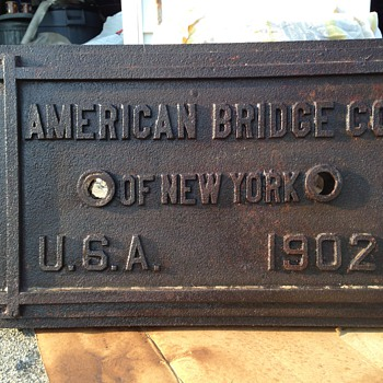 American Bridge Builder Plaque, New York , 1902 - Signs