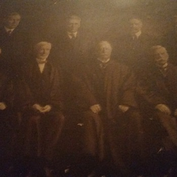 PHOTO OF GROVER CLEVELAND & OTHER JUDGES BEFORE HE WAS PRESIDENT