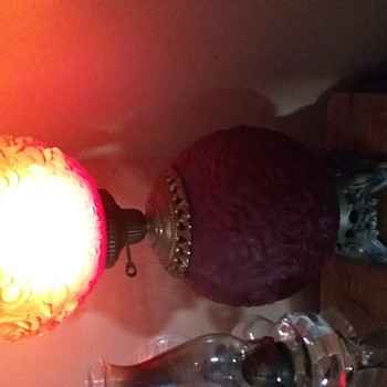 Red Gone with the wind lamp