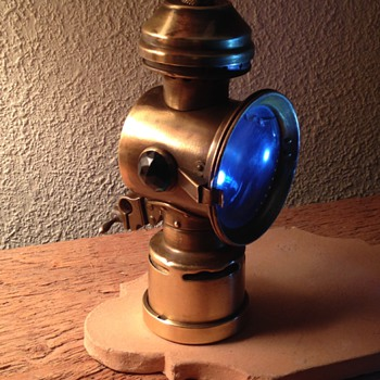 Vintage Neverout JeweledBrass Bicycle Lamp - Lamps