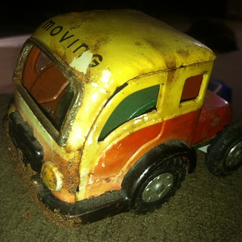 German made tin toy White truck from the 50's - Toys