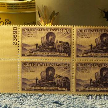 1947 Utah Centennial 3¢ Stamps