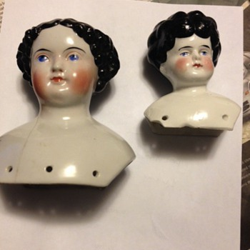 antique doll heads