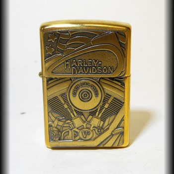 Collectible HARLEY DAVIDSON Brass ZIPPO Lighter