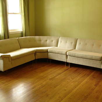 Bernhardt sectional sofa and armless chair