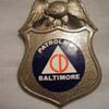 WWII  era Obsolete Civil Defense Patrolman badge for the city of Baltimore