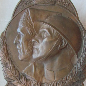 Part II: Reverse of Volunteer Combatant&#039;s Plaque, Belgian WWI and War of Independence - Military and Wartime