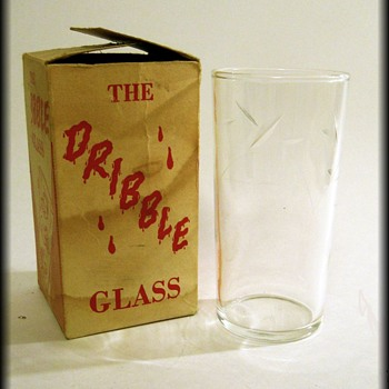 The Original DRIBBLE GLASS ( with box ) Glass is Federal Glass
