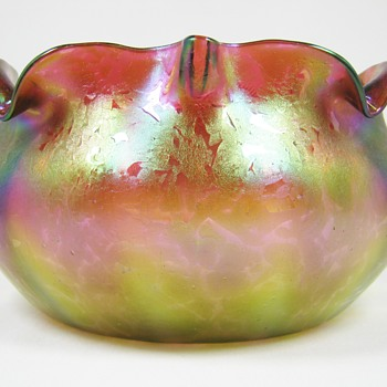 "Rindskopf art glass bowl ""grenada"" decor ca. 1900"