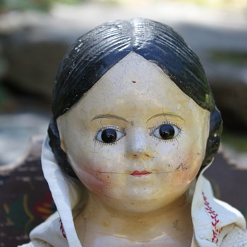 Papier-Mache Glass Eyed Pre-Greiner - Dolls