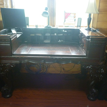 Antique Piano Desk - Furniture