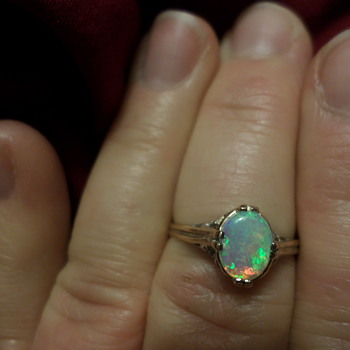 14k Art Nouveau Opal Ring - Fine Jewelry