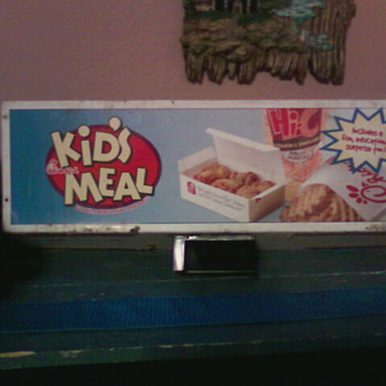 kids meal sign - Advertising