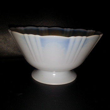"""OPALESCENT FOOTED BOWL"""