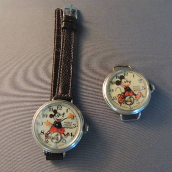 1st &2nd english mickey mouse wrist waches - Wristwatches