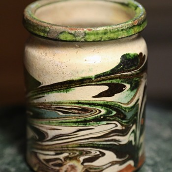 An Old Crock with a Swirled Design
