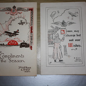 WW1 Christmas Card's - Military and Wartime