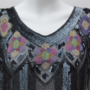 Vintage Beaded Flapper Dress c.1925 - Womens Clothing