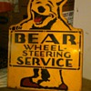 Bear Service sign, metal
