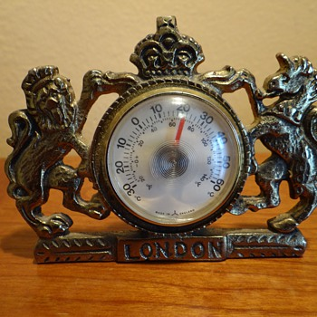 VINTAGE  GRIFFIN THERMOMETER- LONDON- BRASS -MADE IN ENGLAND