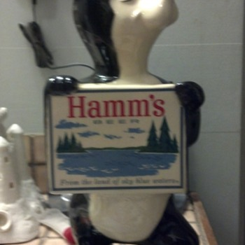 hamms beer coin bank by red wing pottery