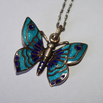 Italian Sterling Butterfly Pendant