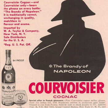 1954 Courvoisier Advertisement - Advertising