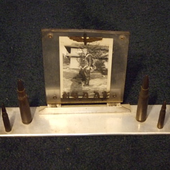 WW2 Trench Art desk picture frame for the Army Air Corps - Military and Wartime
