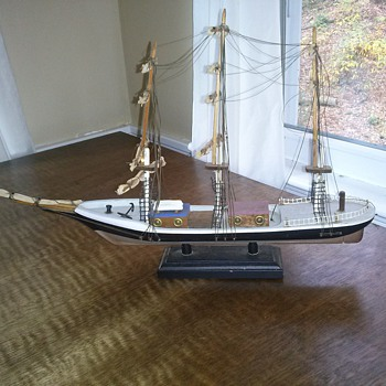 Folk Art Ship Model by Vernon C. Brower