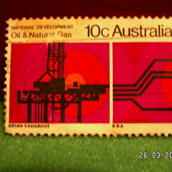 Vintage National Oil & Natural Gas 10C Stamp ~ Australia - Stamps