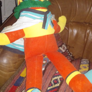 vintage plush kachina doll