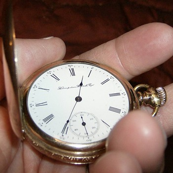 109 YEAR OLD HAMPDEN POCKET WATCH