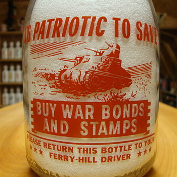 Ferry Hill Dairy (Prairie View, Ill.) War Slogan Tank.........