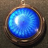 Blue Sterling Guilloche Compact