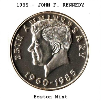 1985 - John F. Kennedy - Medal - US Coins