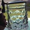 BMF Bierseidel Bubble Glass Beer Stein with Pewter Lid