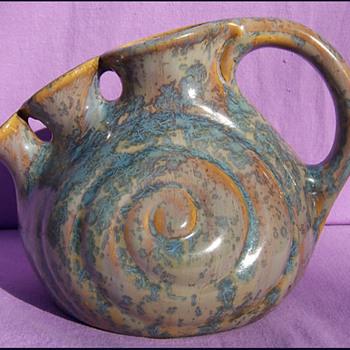 THULIN BELGIUM SNAIL VASE  - Art Pottery