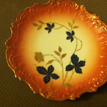 French Limoges decorative plate