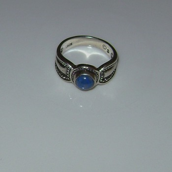 Small Ring with Blue Stone - Fine Jewelry