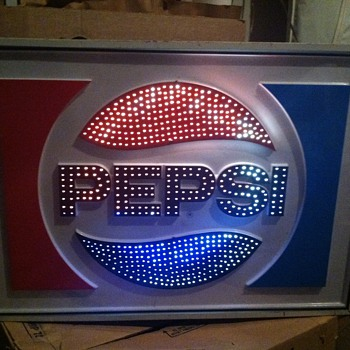 Pepsi Light Up Motion Sign