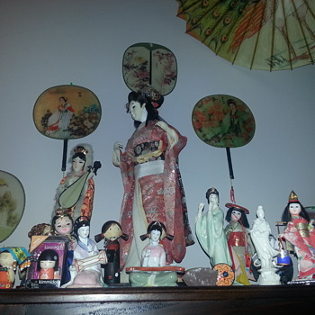 My doll collection.Old n new