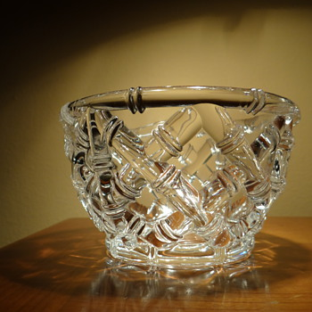 TIFFANY&CO.  CRYSTAL BAMBOO BOWL  - Art Glass