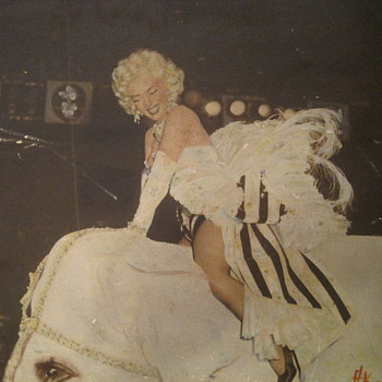 Marilyn Monroe on circus elephant print