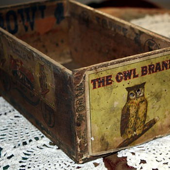 The Owl Brand Cigar Box - San Francisco - Tobacciana
