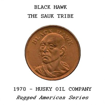 "Husky Oil Co. - ""Black Hawk"" Token - US Coins"