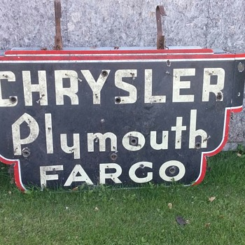 Old car dealer sign
