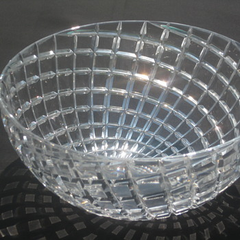 Cut Crystal Bowl Unique Unknown Pattern Possibly Tiffany - Glassware