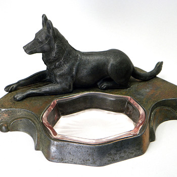 German Shepherd Figure Ashtray
